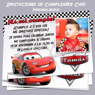 Tarjetas Invitaciones Con Foto Cars En Mercado Libre Argentina