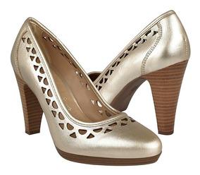 Zapatillas Clásicas Para Dama Flexi 33611 Piel Oro