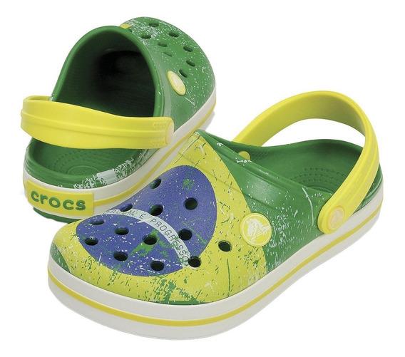 Crocband Brasil Verde Amarelo Crocs Original