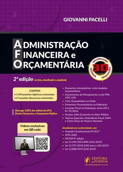 Afo - Administracao Financeira E Orcamentaria 3d - Juspodivm