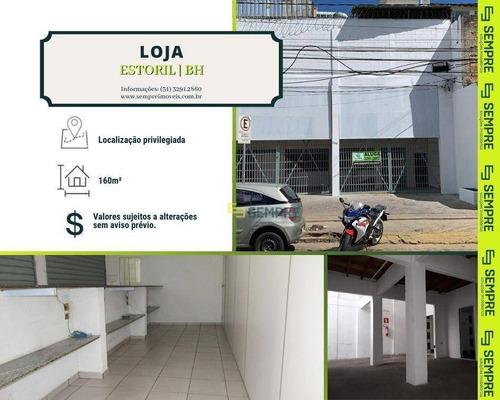 Imagem 1 de 16 de Loja Para Alugar, 160 M² E 04 Vagas - Estoril - Belo Horizonte/mg - Lo0027