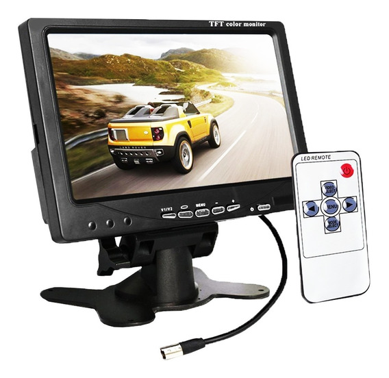 Tela Lcd 7 Polegadas Portátil Monitor Veicular Digital 7002