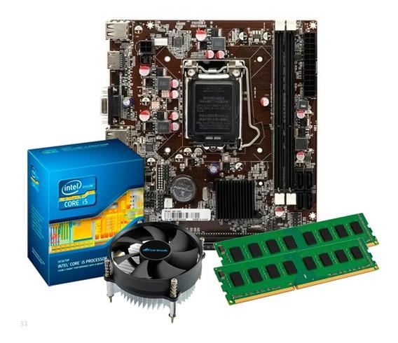 Kit Processador I5 2400 + Placa Mãe H61 + 16gb Ddr3 + Nfe