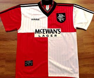 Camisa Glasgow Rangers 1995/96 De Jogo Raríssima