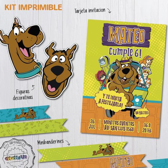 Kit Imprimible Cumpleaños Scooby Doo