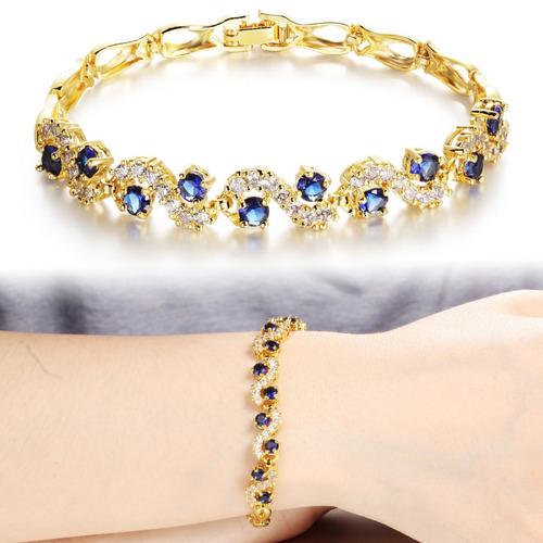 Hermosa !!! Y Bella Pulsera Cristal Diamantes Swarovski Amor