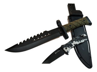 Faca Esportiva Tático 3405 + Canivete Invictus Phanton