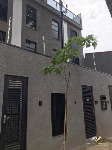 Cobertura À Venda, 80 M² Por R$ 290.000,00 - Jardim Utinga - Santo André/sp - Co0589