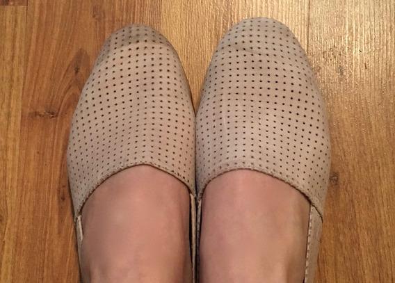 Padrisimos Zapatos Flats Steve Madden Hoyitos Beige Piel!!