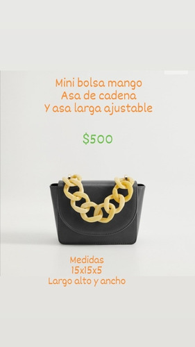 Imagen 1 de 4 de Bellísima Mini Bolsa Mango