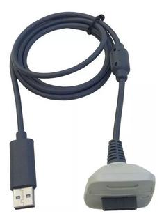 Cable 2 En 1 Carga Y Juega Usb Joystick Consola Xbox 360