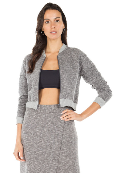 Jaqueta Cropped Street Ready - Cinza - Live!