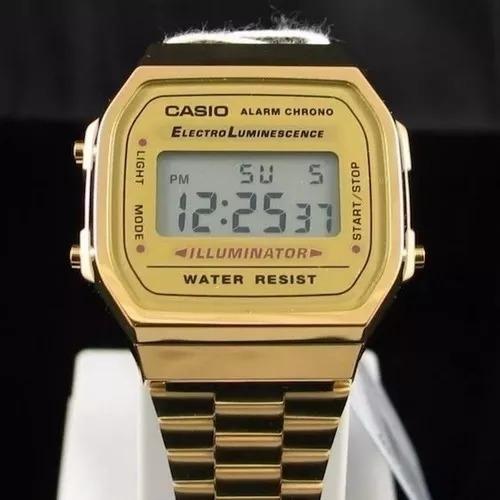 Relógio Casio Moda Vintage Dourado/aço E Outras Cores