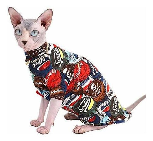 Moda De Gato Sin Pelo Sphynx Y Camisas De Algodon De Verano