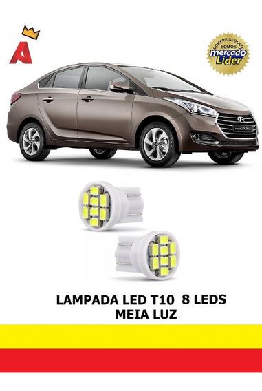 Par Led T10 Lanterna Meia Luz Posição Hyundai Hb20s