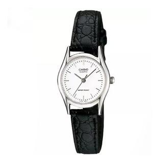 Reloj Casio Dama Ltp-1094e-7a Correa Cuero Analog Wr