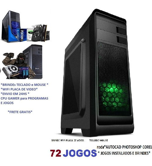 Cpu Gamer 4gb Hd500gb Gt9800 Wifi Autocad Corel Lol Cs Pb