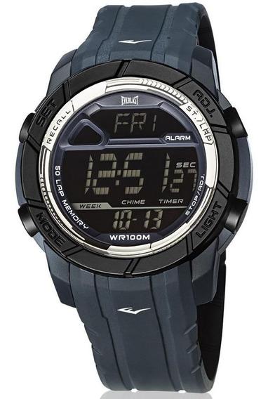 Relógio Everlast Masculino Ref: E701 Digital Esportivo Azul