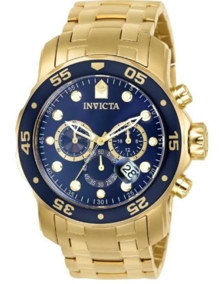 Relógio Invicta Pro Diver 0073 Banhado Ouro 18k Original