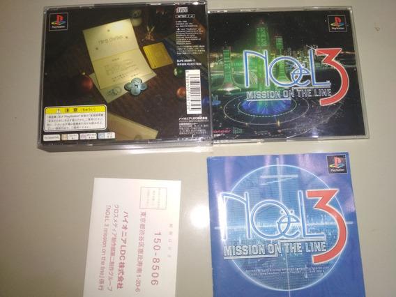 Jogo Ps1 Original - Noel 3 Mission On The Line - Jap