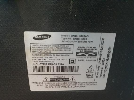 Tv Samsung Smart Un40h5103ag Tela Trincada