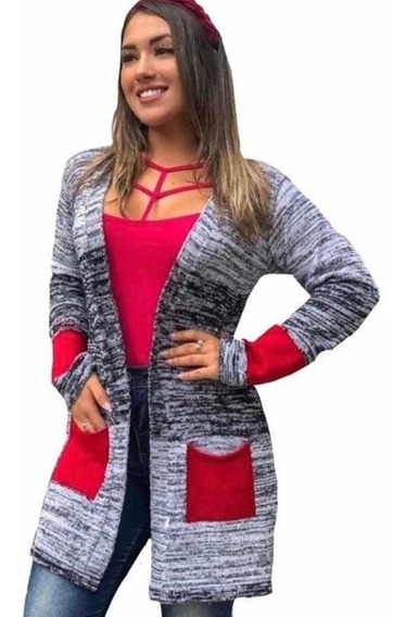 Kimono Tricot Cardigan Blusa Poncho Roupas Femininas
