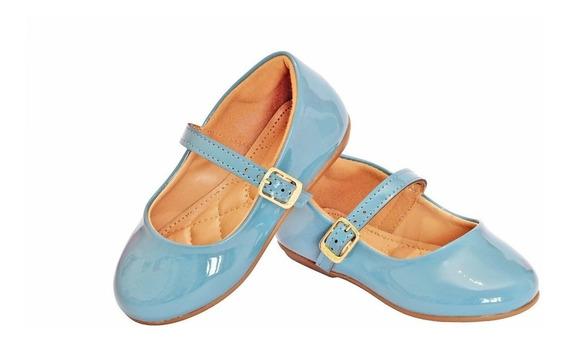 Sapatilha De Criança Bebe Infantil Azul Claro Bico Redondo E Tira Sapatinho Azul Para Bebe Criança Nova Nenem