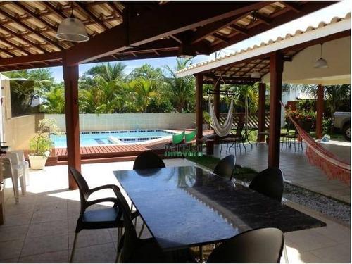 Casa Com 5 Dormitórios À Venda, 440 M² Por R$ 1.980.000,00 - Guarajuba - Camaçari/ba - Ca2413