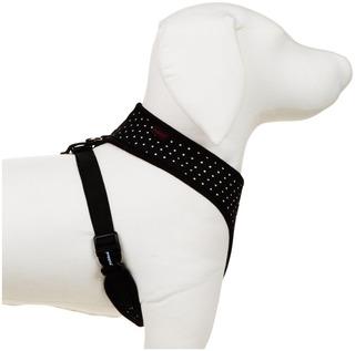 Puppia Dotty Harness A, Negro, Mediano