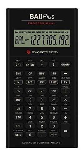 Imagen 1 de 1 de Texas Instruments Ba Ii Plus Professional Advanced Financial