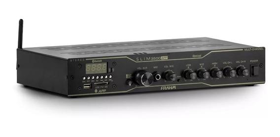 Amplificador Receiver Para Som Ambiente Frahm Slim 3500 App