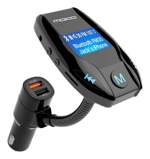 Transmisor Fm Con Puerto Qc 3.0, Adaptador De Radio Inalámbr