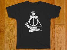 Camiseta Masculina Plus Size Harry Potter Reliquias Da Morte