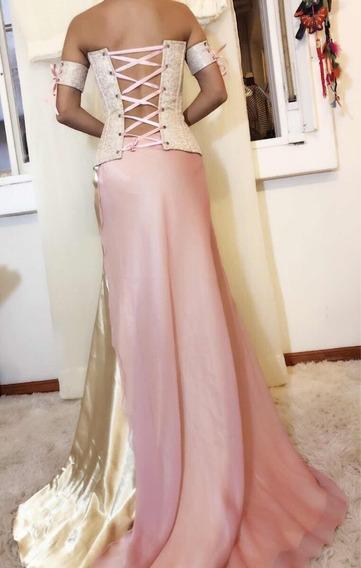 Increíble Vestido De Fiesta Recepción Una Postura