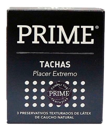 Imagen 1 de 4 de Prime Preservativos Con Tachas X 3 Unidades