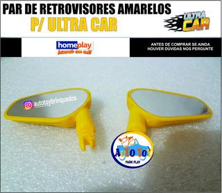 Retrovisores Amarelos Para Ultracar - Homeplay (1 Par )