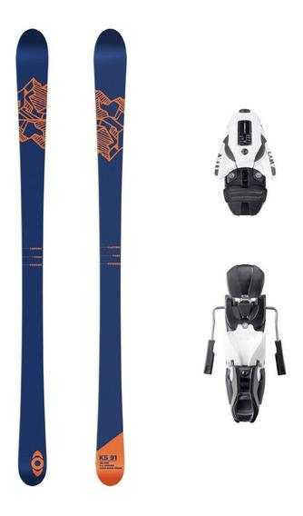 Ski Kano - Ks91 + Fijación Atomic Ffg10 White/black