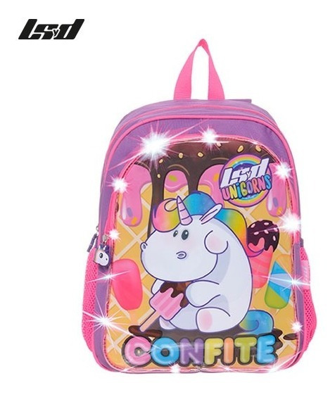 Mochila Jardin Unicornio Luces Led
