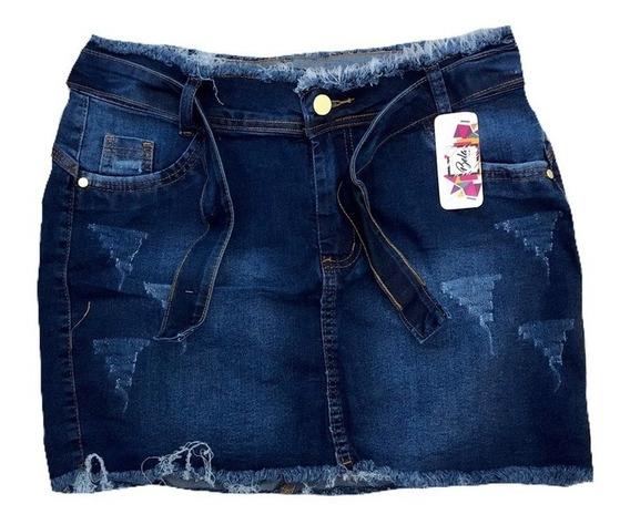 Roupas Femininas Saia Jeans Plus Size Com Lycra 44 / 54 2020