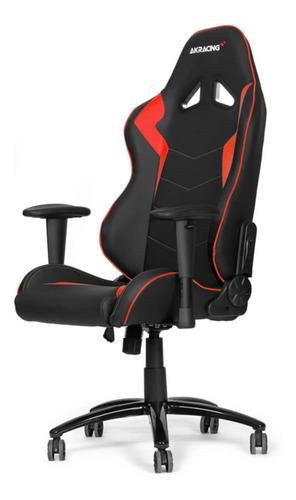 Imagen 1 de 1 de Silla de escritorio Akracing Octane gamer ergonómica  black y red con tapizado de cuero sintético