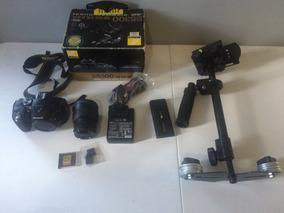 Nikon 5300 + Steady Cam + Cartao De Memoria
