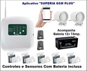 Central De Alarme Gsm Com Aplicativo Kit Completo