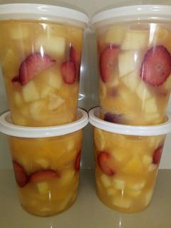 Ensaladas De Fruta!!$40c/u..artesanal