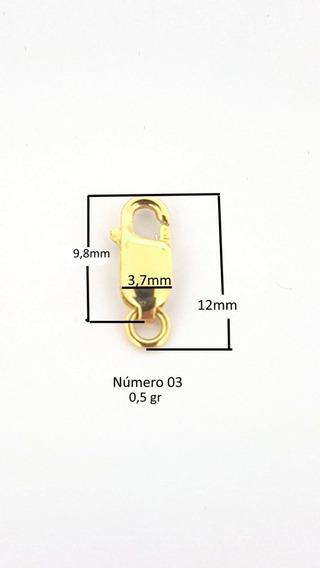 Fecho Ouro 18k Mosquetão 12mm