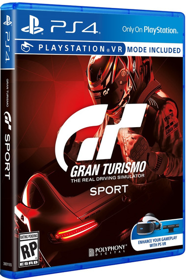Jogo Gran Turismo Sport Ps4 Disco Fisico Original Português