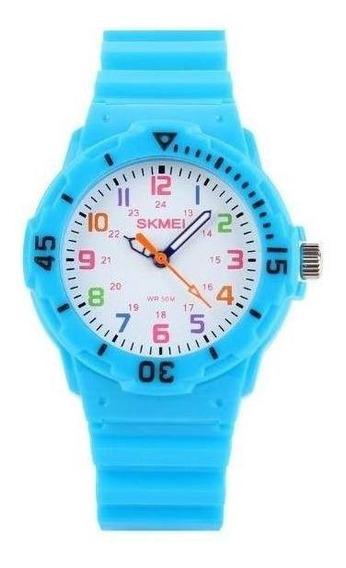 Relógio Infantil Skmei Analógico 1043 Azul Claro