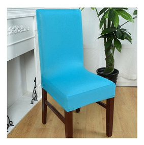 fundas sillas comedor turquesa