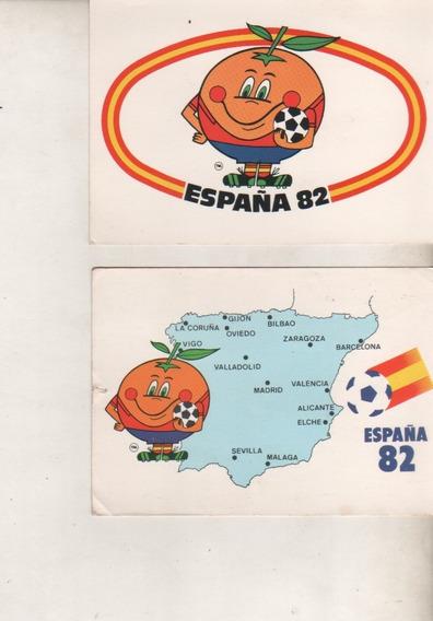 2 Tarjetas Postal Conmemorativas Mundial Futbol España 82