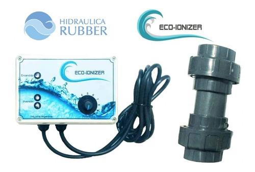 Imagen 1 de 7 de Ionizador Para Piscina Eco-ionizer 120m3 Hidraulica Rubber