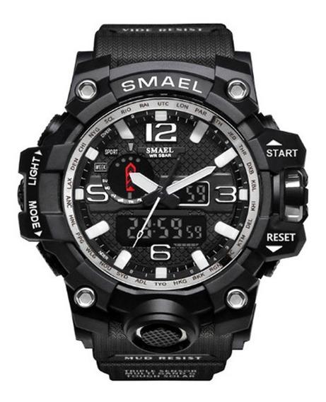 Relógio Masculino Militar Tático Original Shock Smael Preto